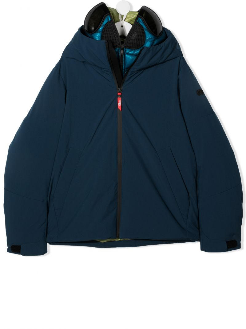 AI RIDERS ON THE STORM KIDS: nylon padded jacket Color Blue_1