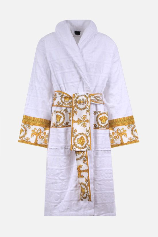 VERSACE: I Love Baroque cotton bathrobe Color White_1