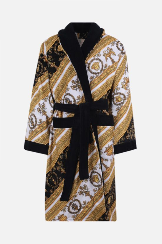 VERSACE: I Love Baroque cotton bathrobe Color Multicolor_1
