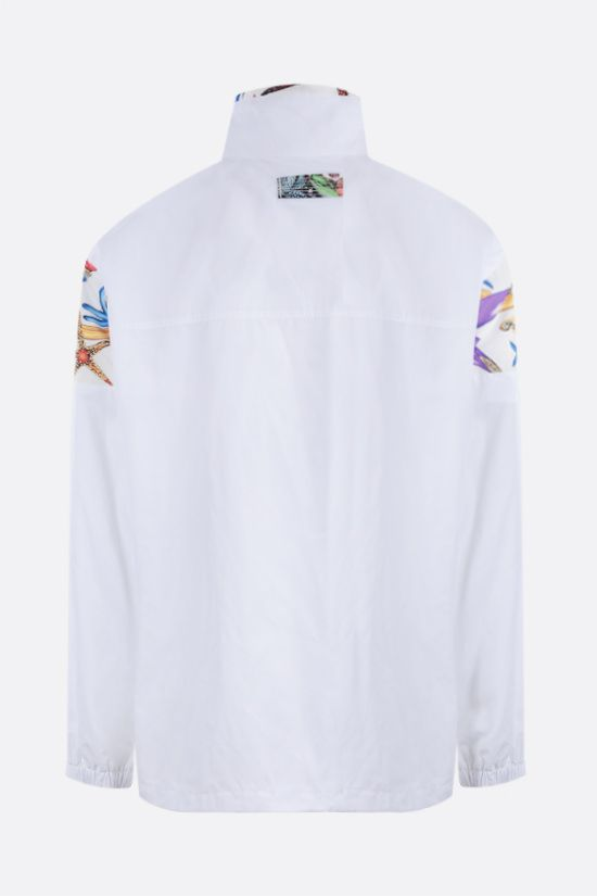 VERSACE: Trèsor de la Mer print nylon windbreaker Color White_2