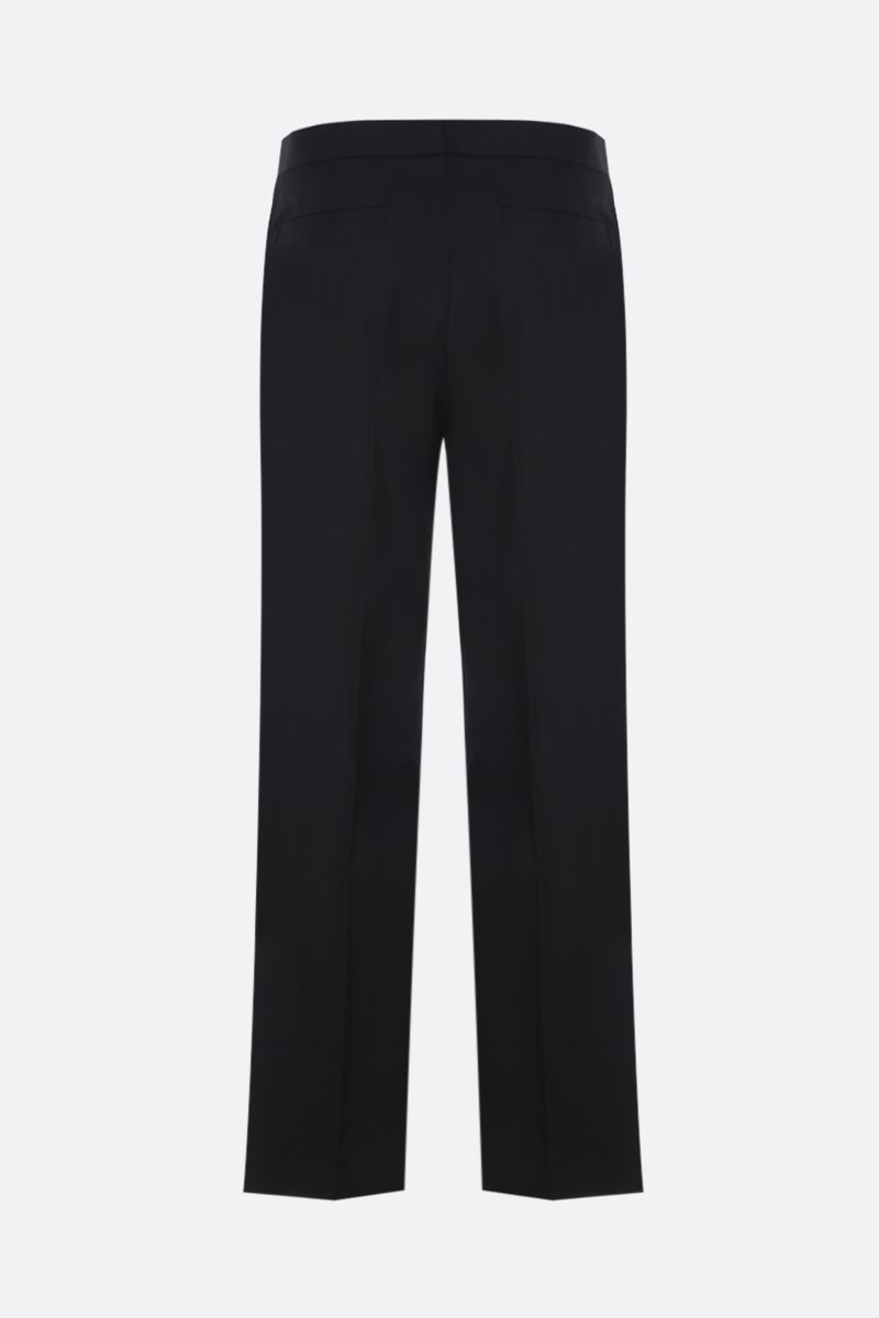 VERSACE: stretch cady cropped pants Color Black_2