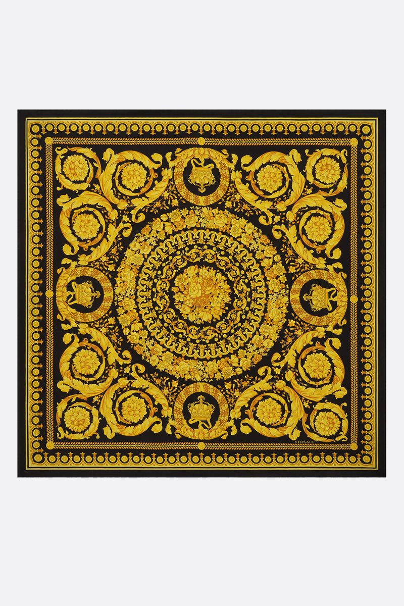 VERSACE: Baroque print silk twill foulard Color Black_2