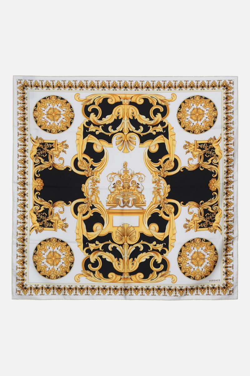VERSACE: Barocco print silk twill foulard Color Multicolor_2