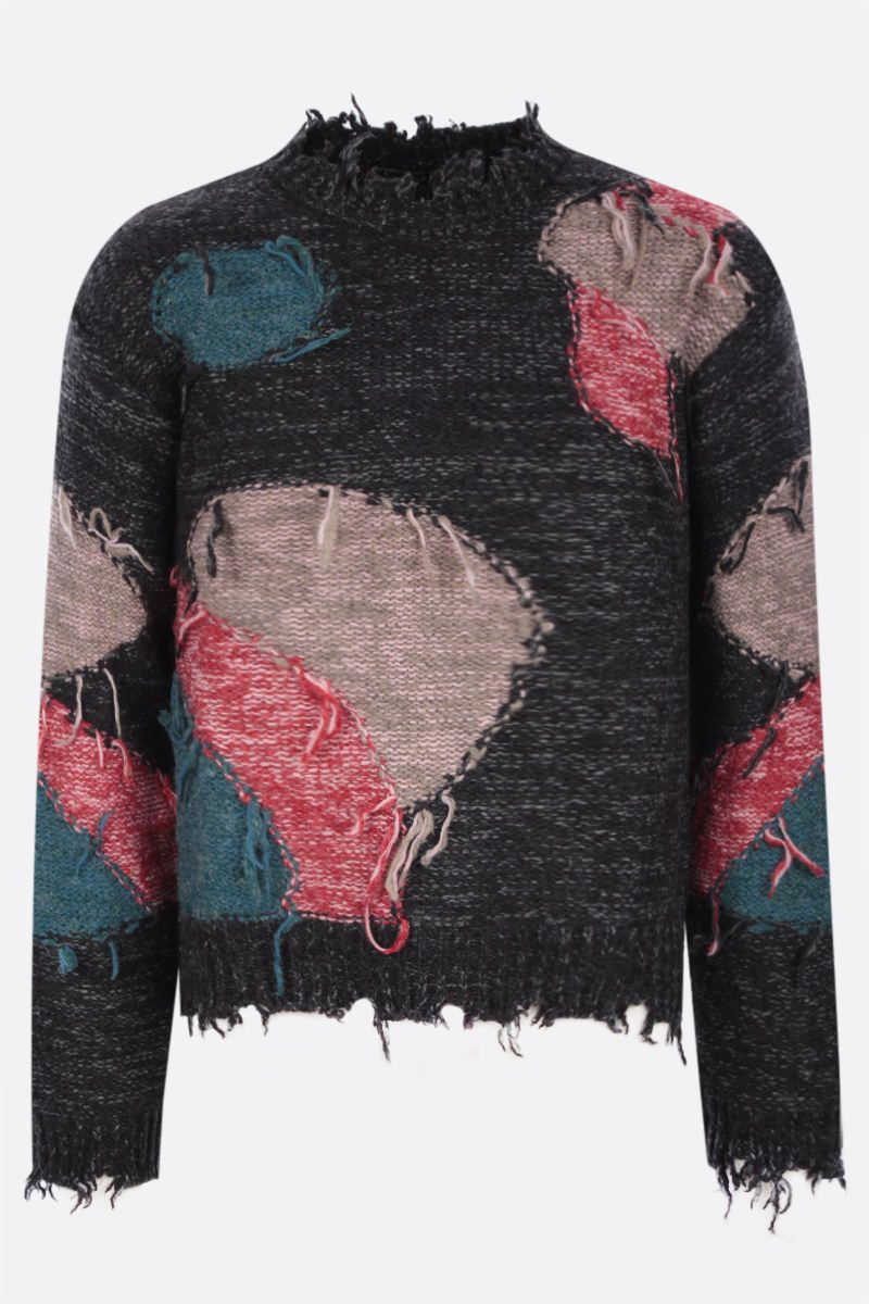 ANDERSSON BELL: pullover Bruce in misto lana Colore Black_1