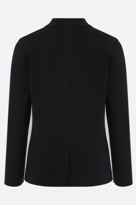 ROBERTO COLLINA: single-breasted cotton jacket Color Black_2