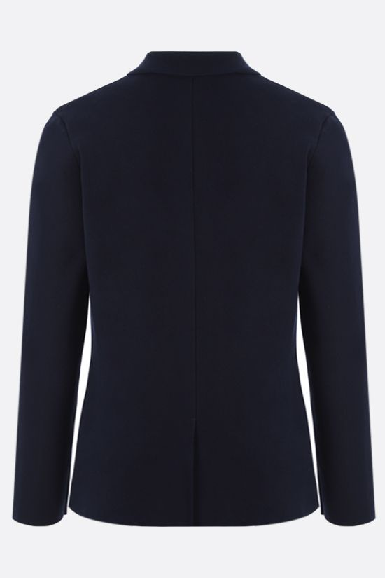 ROBERTO COLLINA: single-breasted cotton jacket Color Blue_2