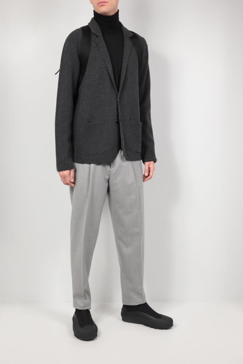 ROBERTO COLLINA: single-breasted cashmere wool blend jacket Color Grey_2