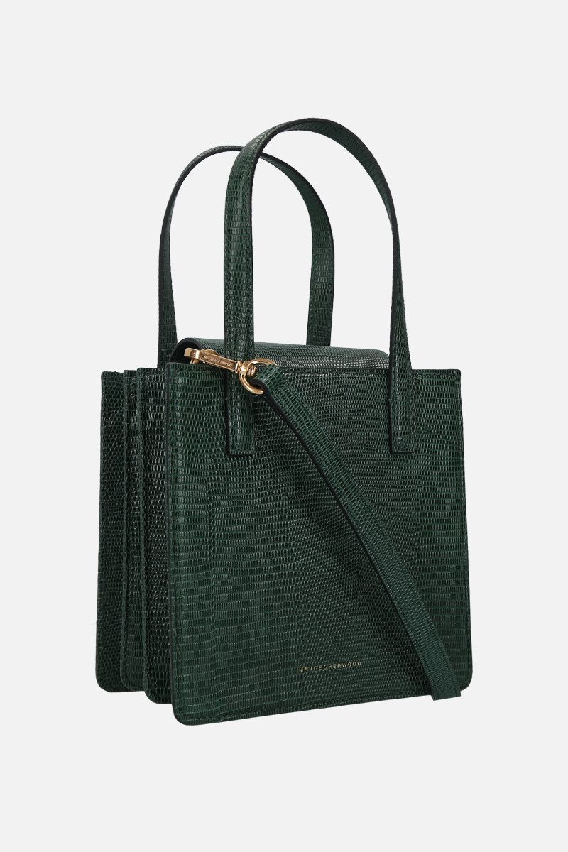MARGESHERWOOD: Grandma lizard-embossed leather handbag Color Green_2