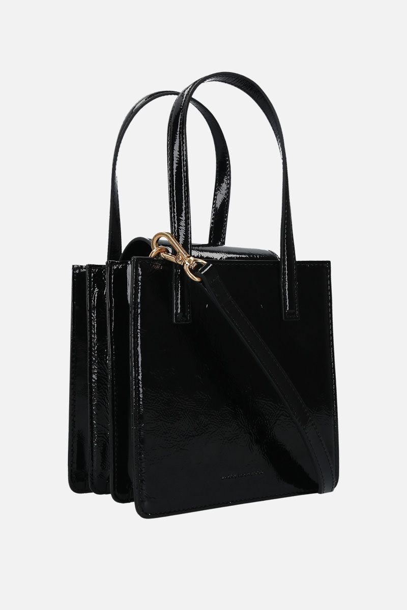 MARGESHERWOOD: Grandma patent leather handbag Color Black_2