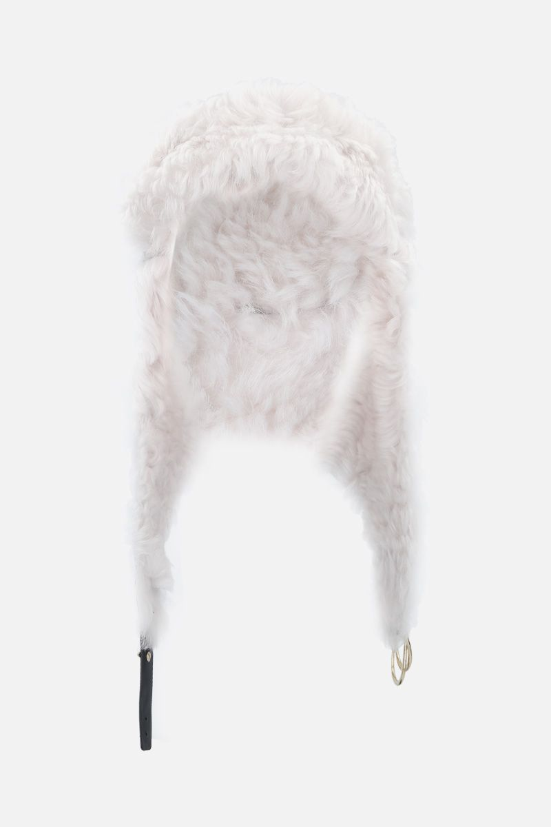 YVES SALOMON: shearling aviator hat Color Black_1