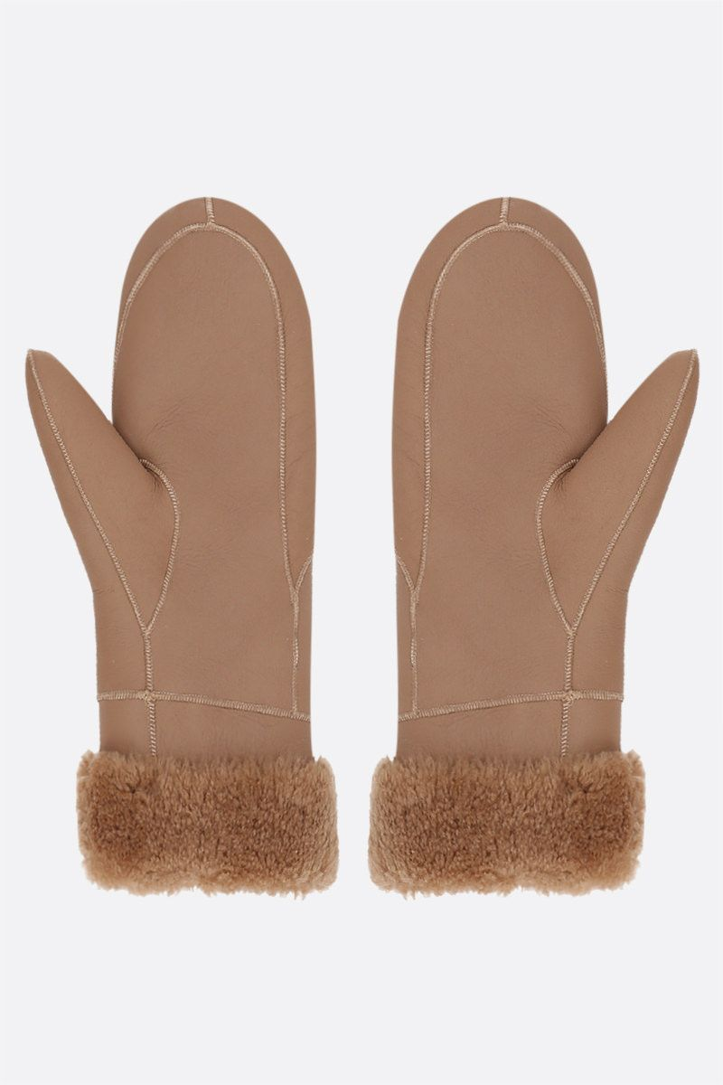 YVES SALOMON: shearling mittens Color Neutral_2