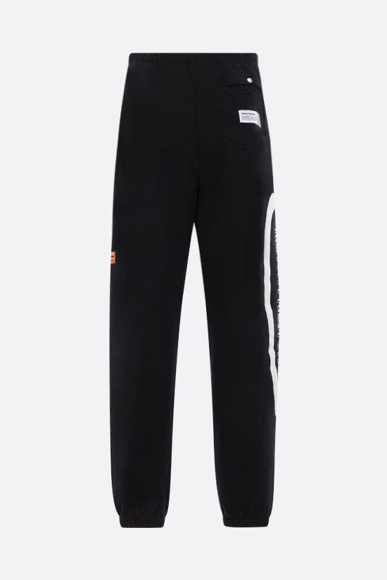 HERON PRESTON: CTNMB stretch cotton joggers Color Black_2