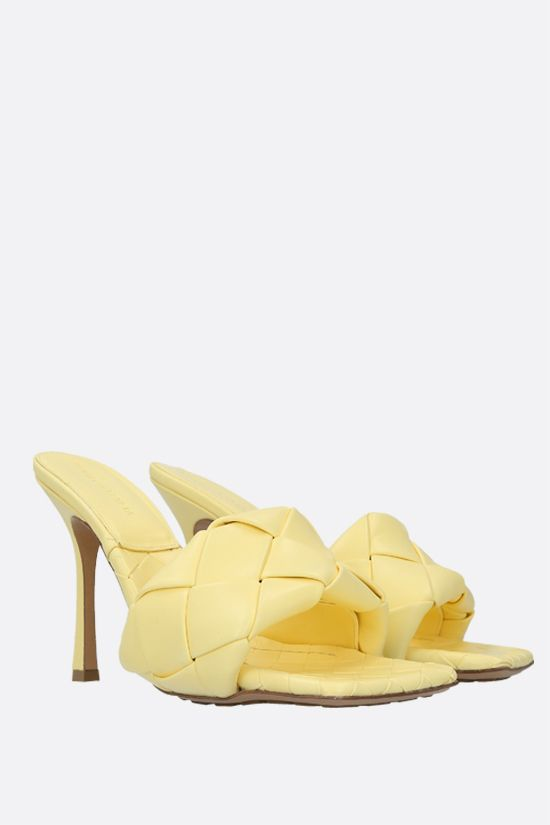 BOTTEGA VENETA: BV Lido sandals in Intrecciato nappa Color Yellow_2