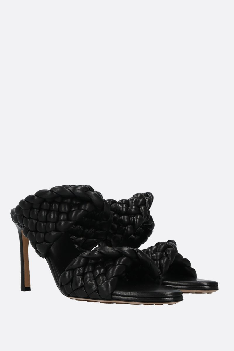 BOTTEGA VENETA: BV Curve mule sandals in padded Intrecciato nappa Color Black_2