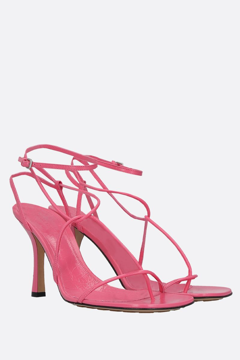 BOTTEGA VENETA: crush leather sandals_2