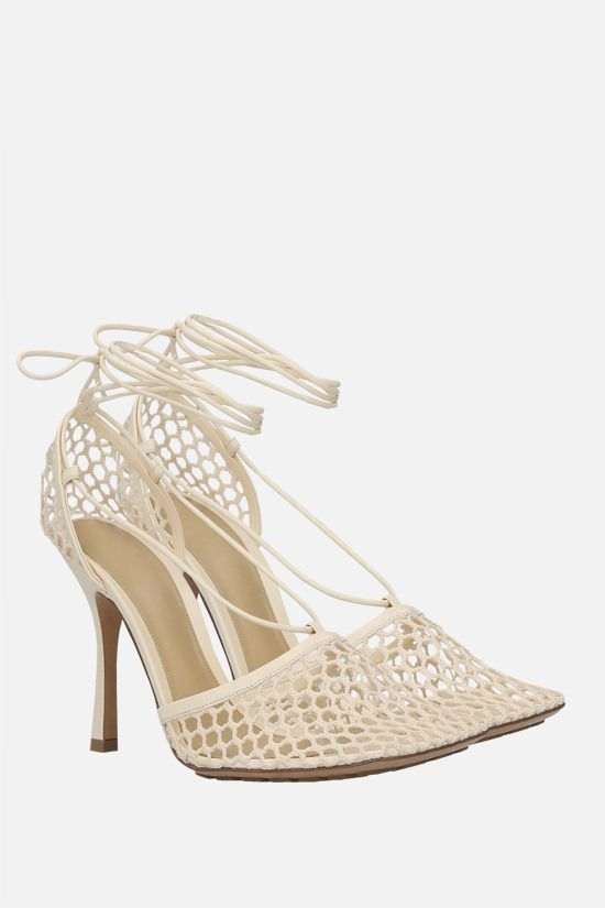BOTTEGA VENETA: mesh and nappa sandals Color Multicolor_2
