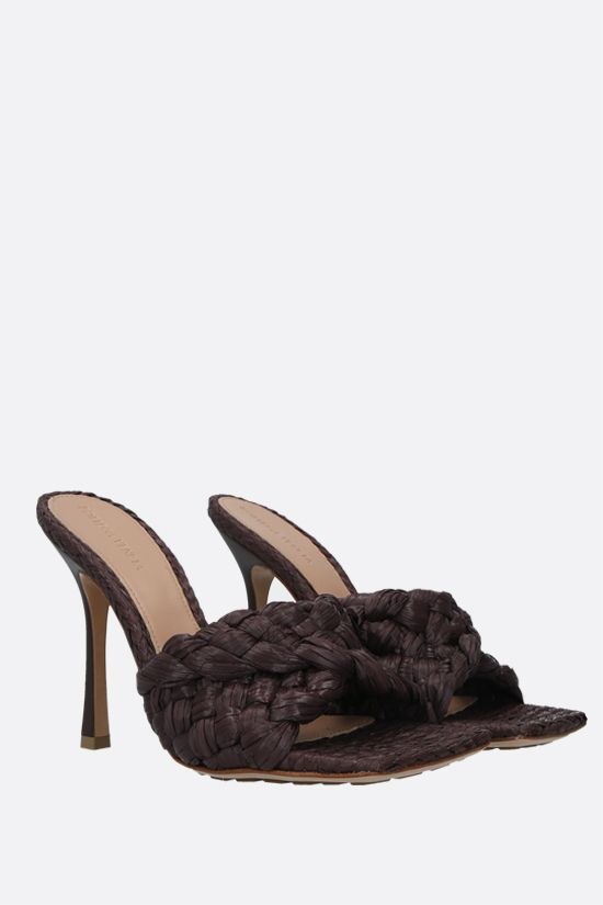 BOTTEGA VENETA: BV Lido raffia sandals Color Brown_2