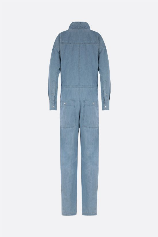 ISABEL MARANT ETOILE: Marvin denim jumpsuit Color Blue_2