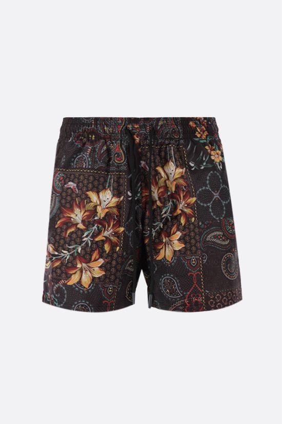 ETRO: patchwork print nylon swim shorts Color Multicolor_1