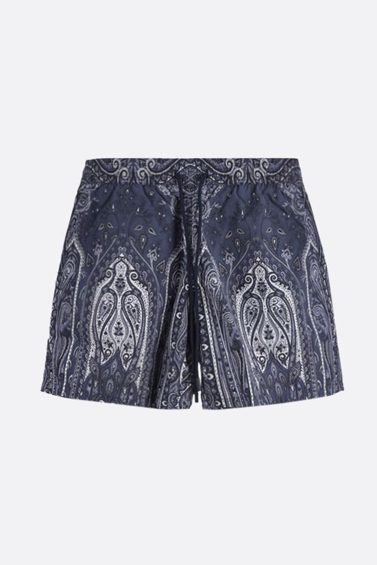 ETRO: paisley print nylon swim shorts Color Blue_1