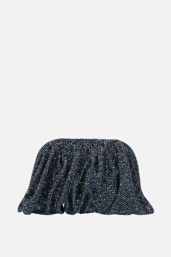 BENEDETTA BRUZZICHES: Venus La Petite crystal-embellished metal mesh clutch Color Blue_1