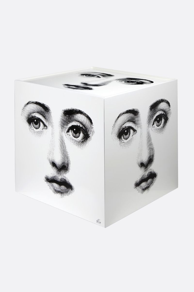 FORNASETTI: Viso laquered wood cube with drawer Color White_1