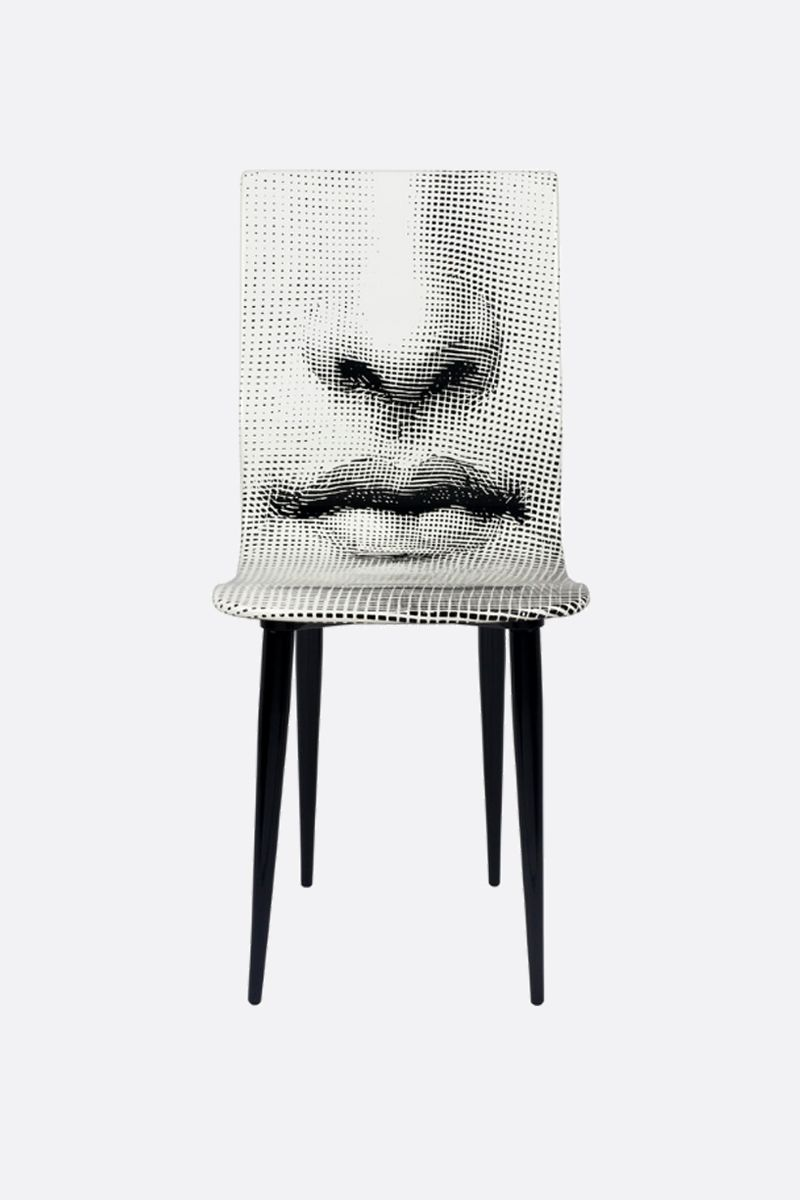 FORNASETTI: Bocca laquered wood chair Color Grey_1