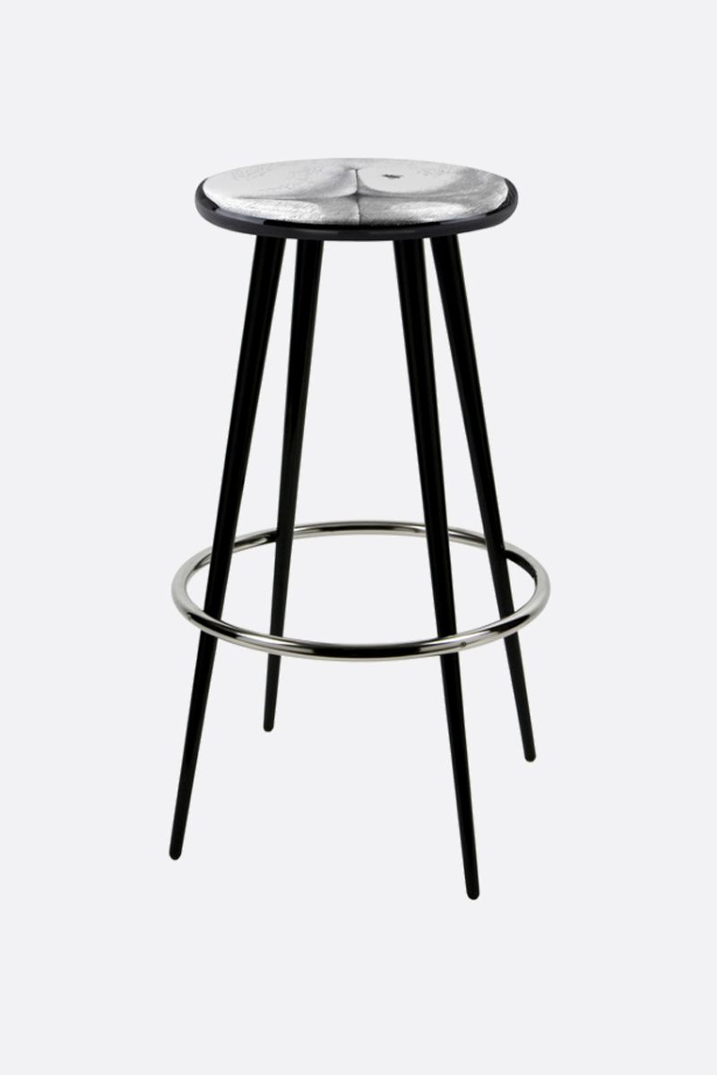 FORNASETTI: Bee On My Back laquered wood bar stool Color Grey_1