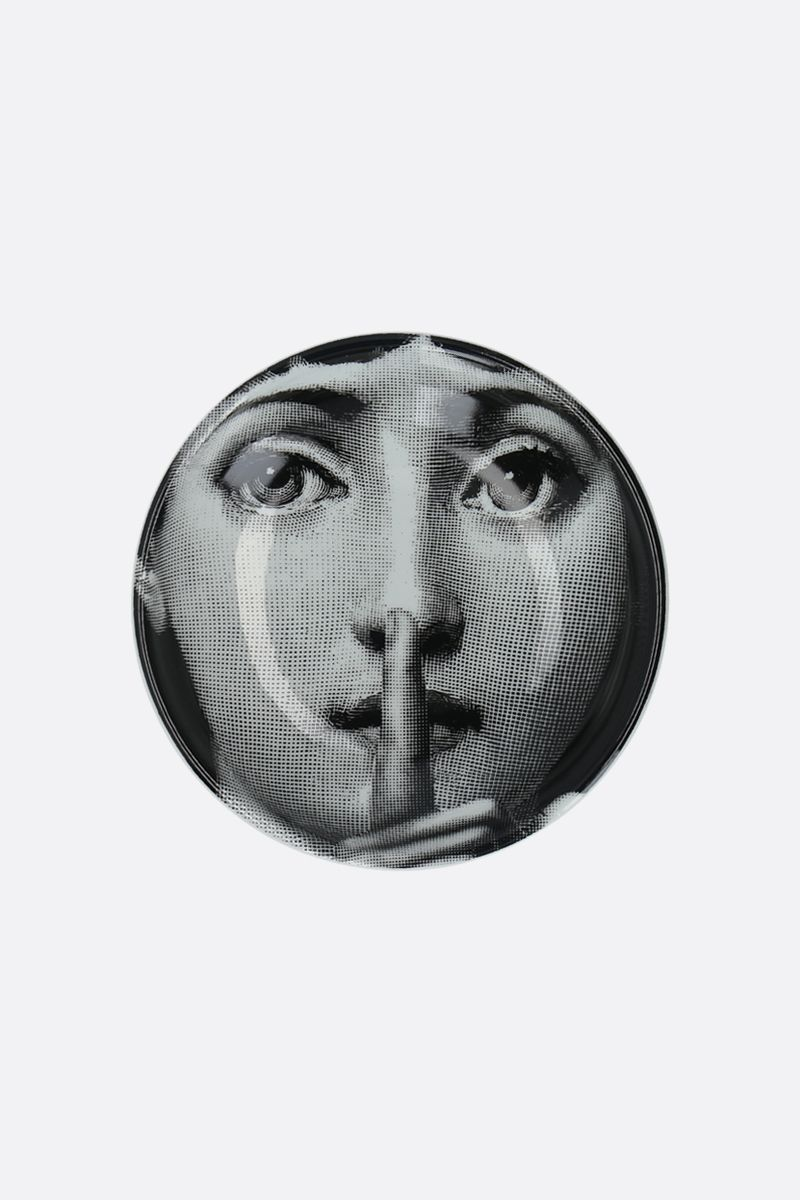 FORNASETTI: Tema e Variazione N°334 ceramic round ashtray Color White_1