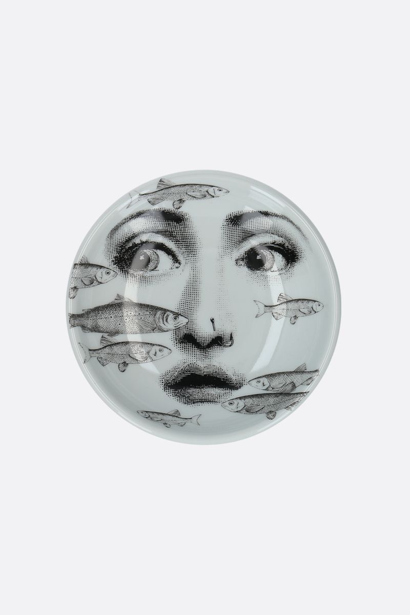 FORNASETTI: Tema e Varizioni N°392 ceramic round ashtray Color White_1