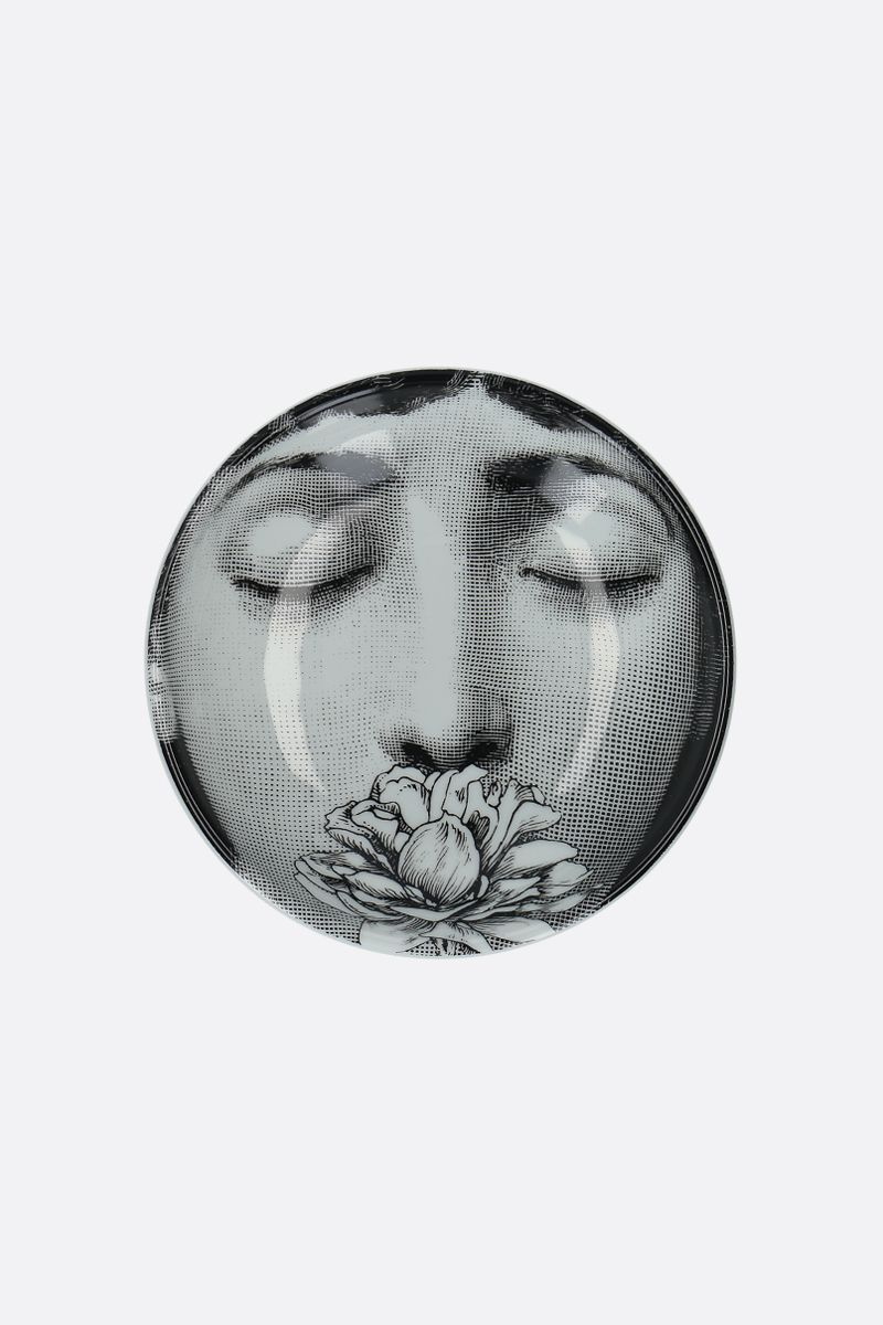 FORNASETTI: Tema e Variazioni N°393 ceramic round ashtray Color White_1