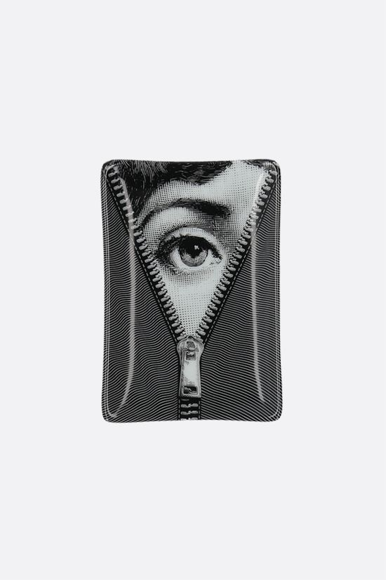 FORNASETTI: Tema e Variazioni N° 401 ceramic rectangular ashtray Color Grey_1