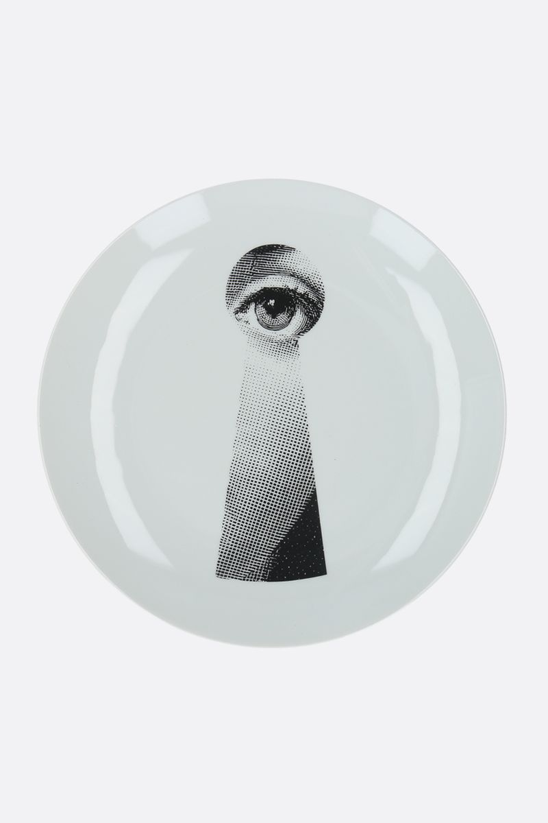 FORNASETTI: Tema e Variazioni N°14 ceramic wall plate Color Grey_1