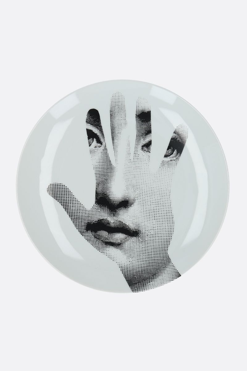 FORNASETTI: Tema e Variazioni N°15 ceramic wall plate Color Grey_1