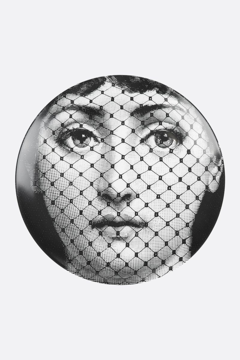 FORNASETTI: Tema e Variazione N° 78 ceramic wall plate Color Grey