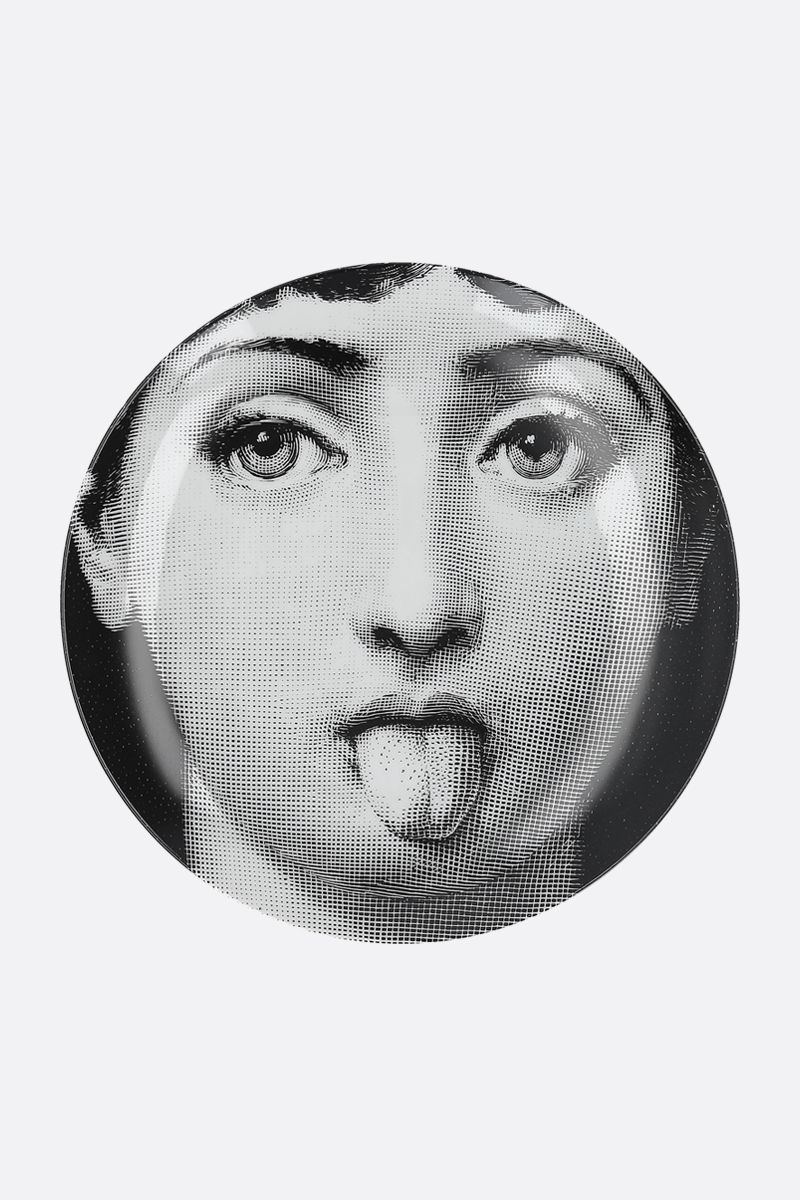 FORNASETTI: Tema e Variazioni N° 82 ceramic wall plate Color Grey