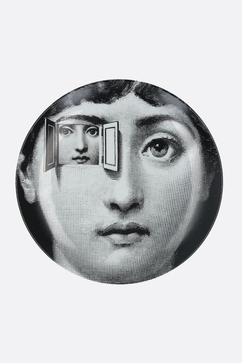 FORNASETTI: Tema e Variazioni N°116 ceramic wall plate Color Grey_1