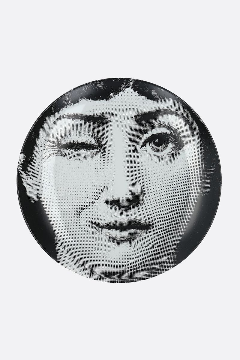 FORNASETTI: Tema e Variazioni N° 130 ceramic wall plate Color Grey_1