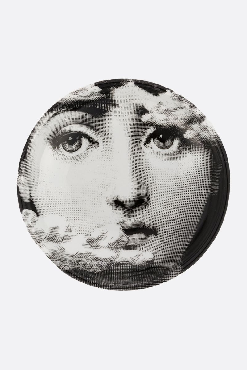 FORNASETTI: Tema e Variazioni N° 139 ceramic wall plate Color Grey
