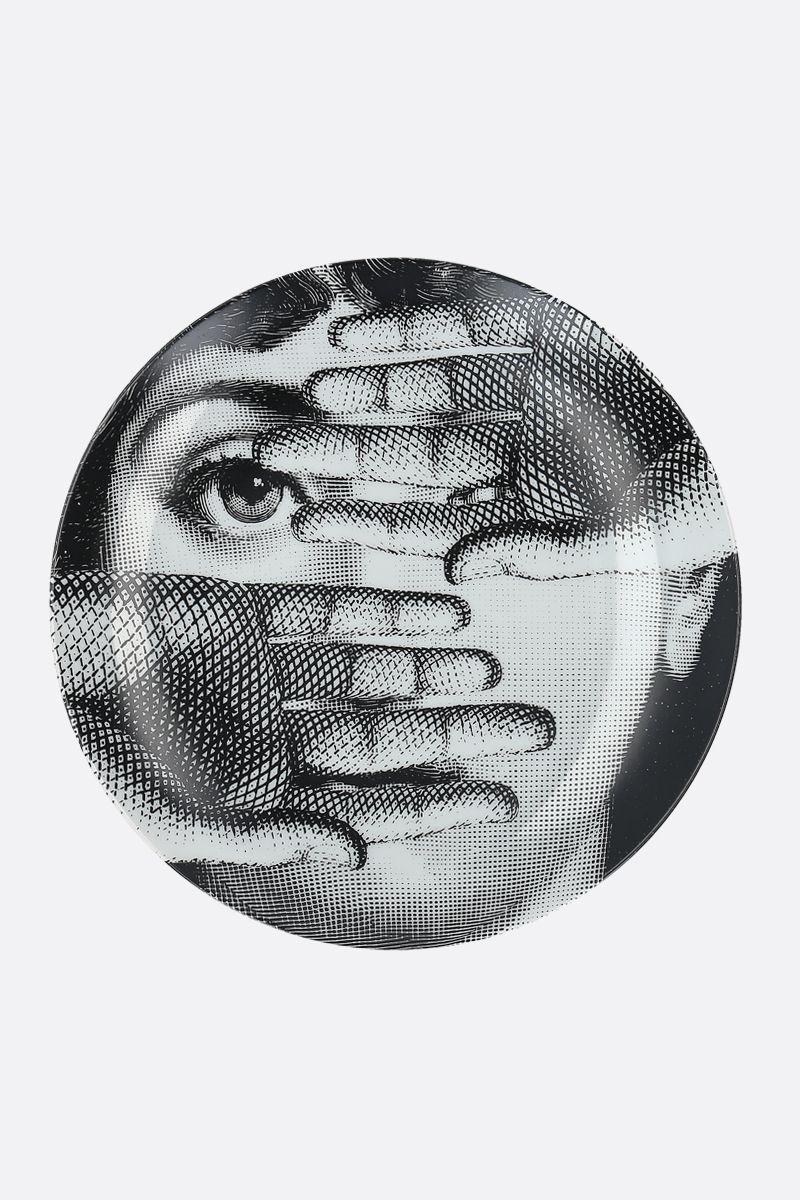 FORNASETTI: Tema e Variazioni N° 154 ceramic wall plate Color Grey_1
