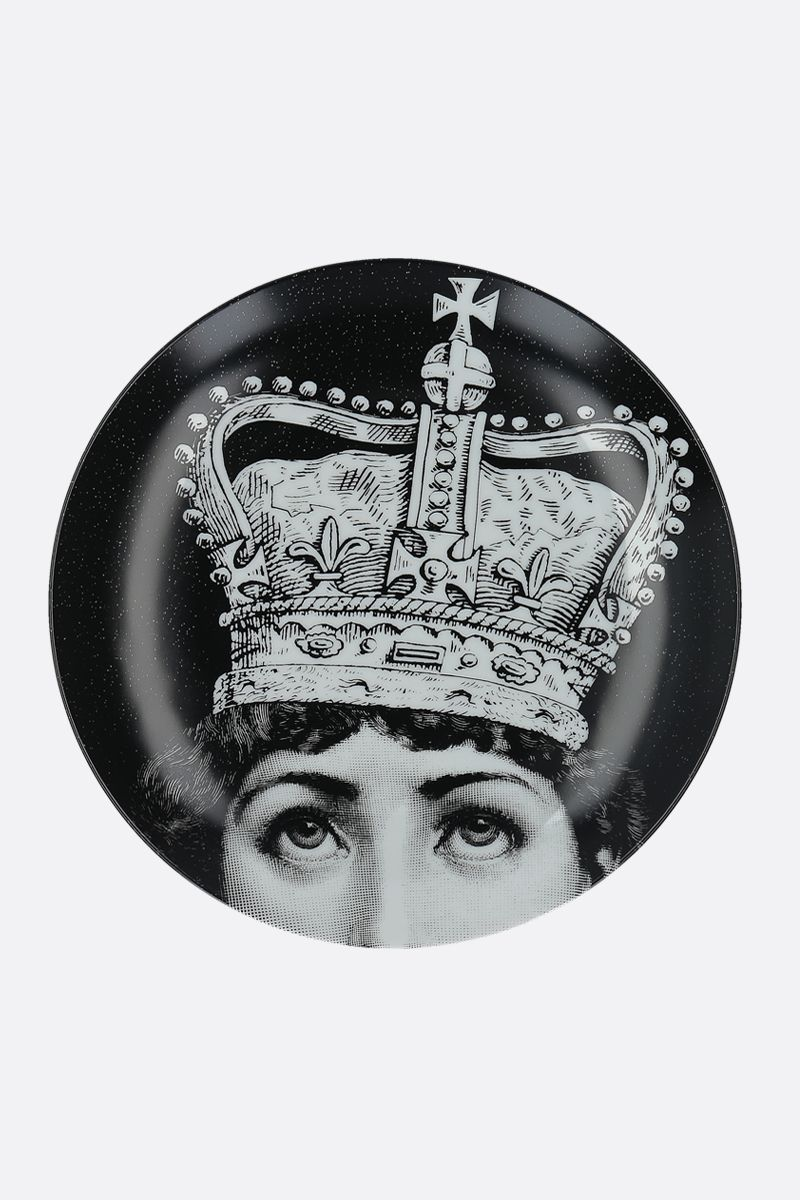 FORNASETTI: Tema e Variazioni N° 369 ceramic wall plate Color Grey_1
