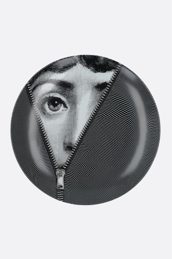 FORNASETTI: Tema e Variazioni N° 401 ceramic wall plate Color Grey_1