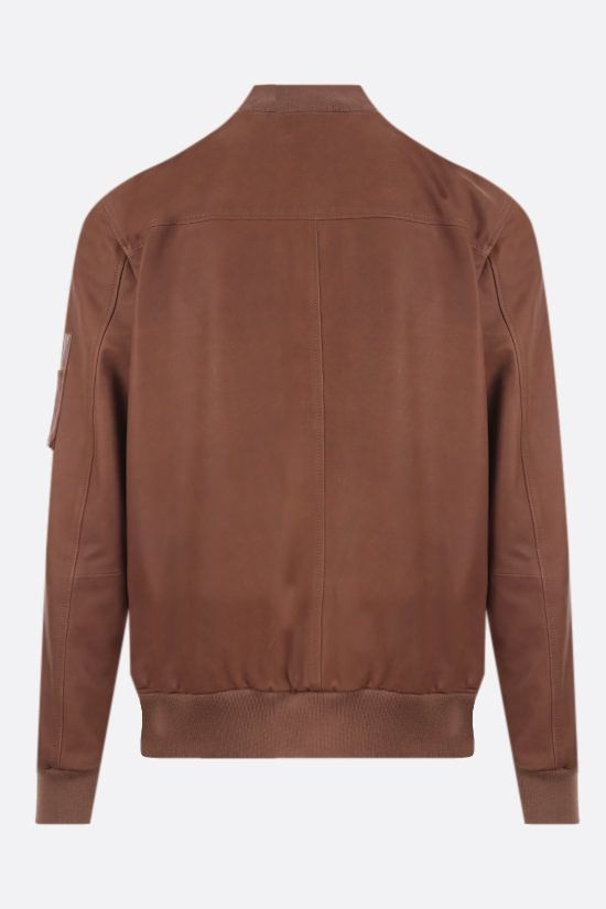 ELEVENTY: nabuk full-zip bomber jacket Color Brown_2