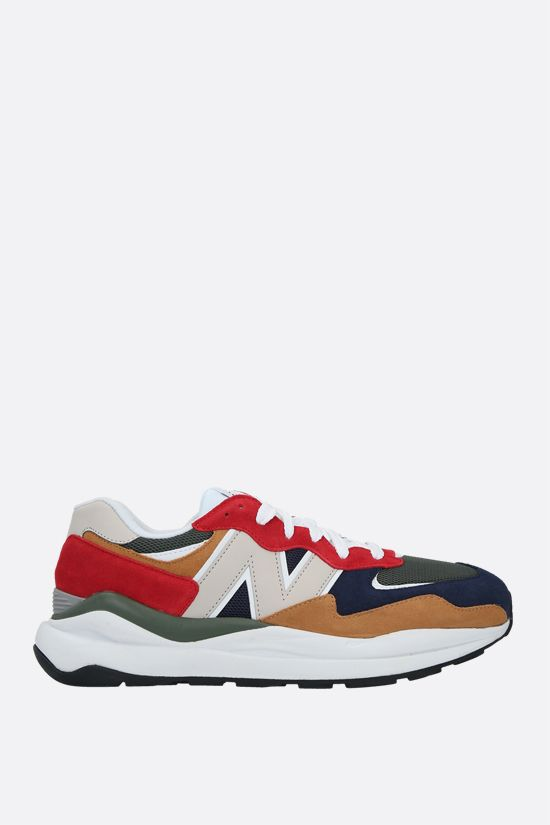 NEW BALANCE: 57/40 suede and mesh sneakers Color Multicolor_1