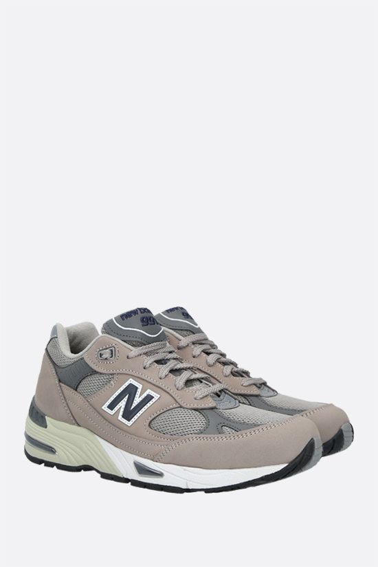 NEW BALANCE: 991 sneakers in a mix of materials Color Grey_2