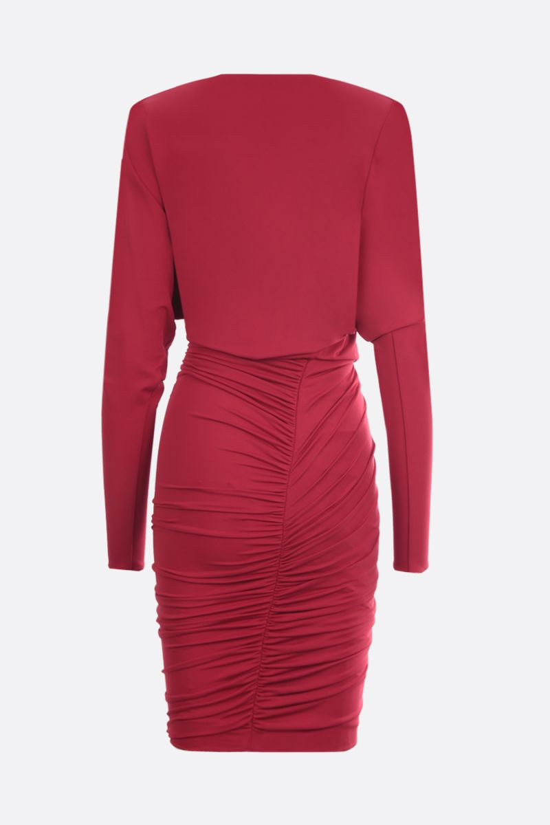 ALEXANDRE VAUTHIER: stretch jersey draped short dress Color Red_2