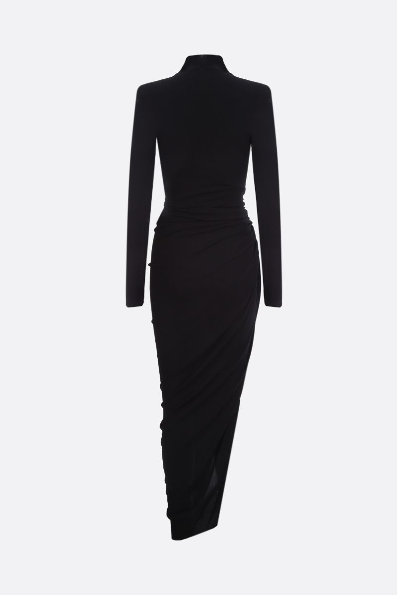 ALEXANDRE VAUTHIER: stretch viscose long dress Color Black_2