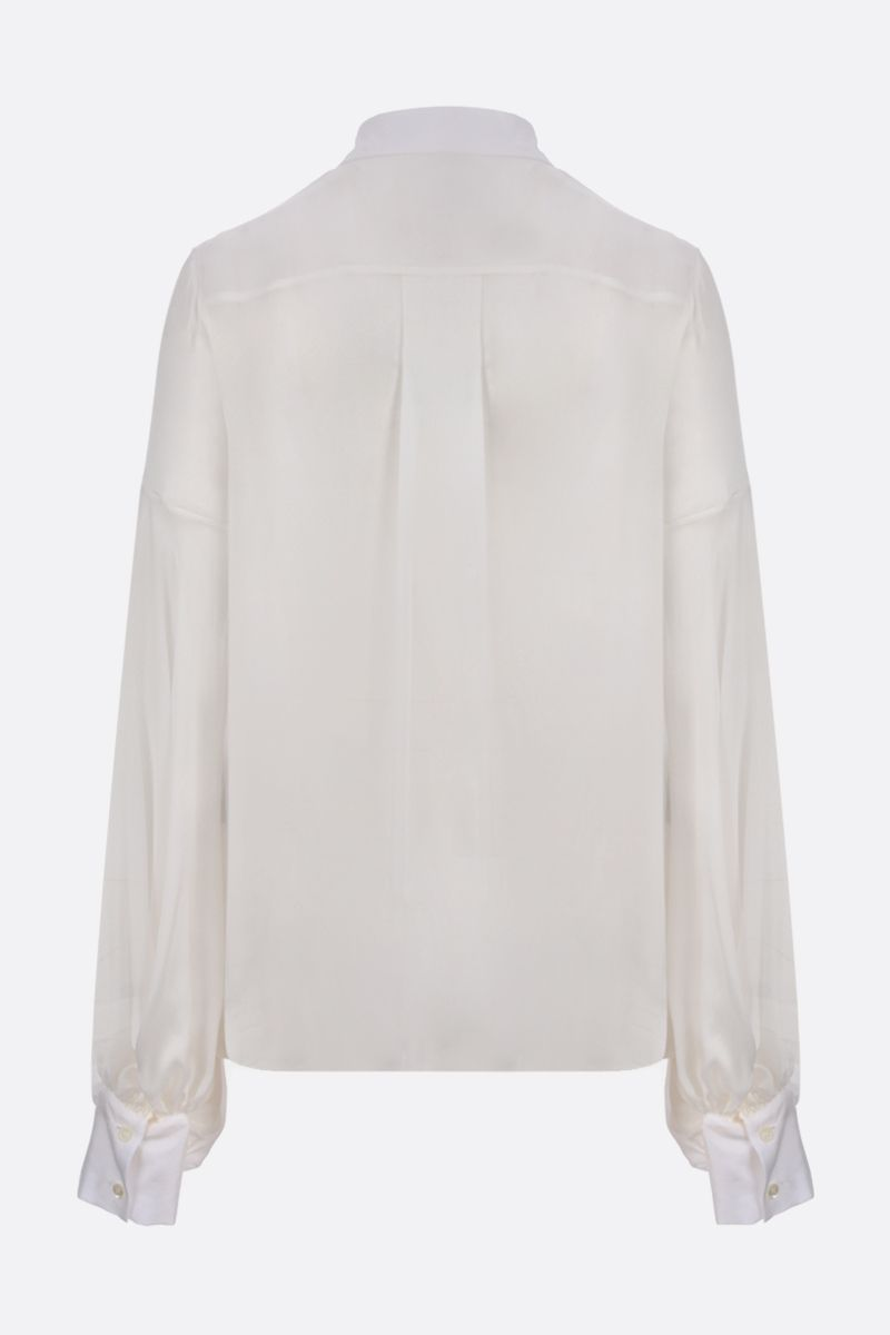 ALEXANDRE VAUTHIER: silk shirt Color White_2