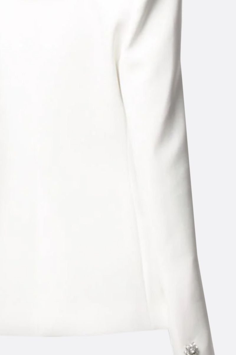 ALEXANDRE VAUTHIER: crepe single-breasted jacket Color White_2