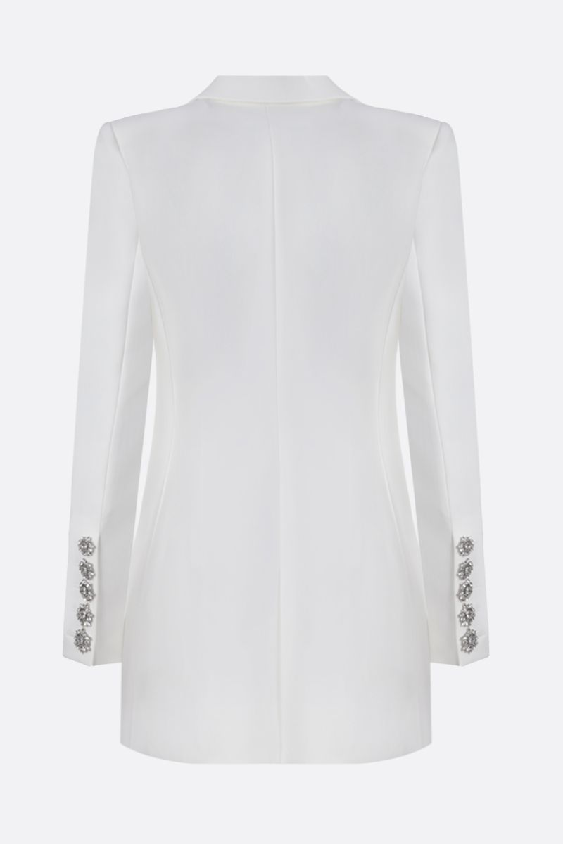 ALEXANDRE VAUTHIER: jewel button-detailed crepe double-breasted jacket Color White_2